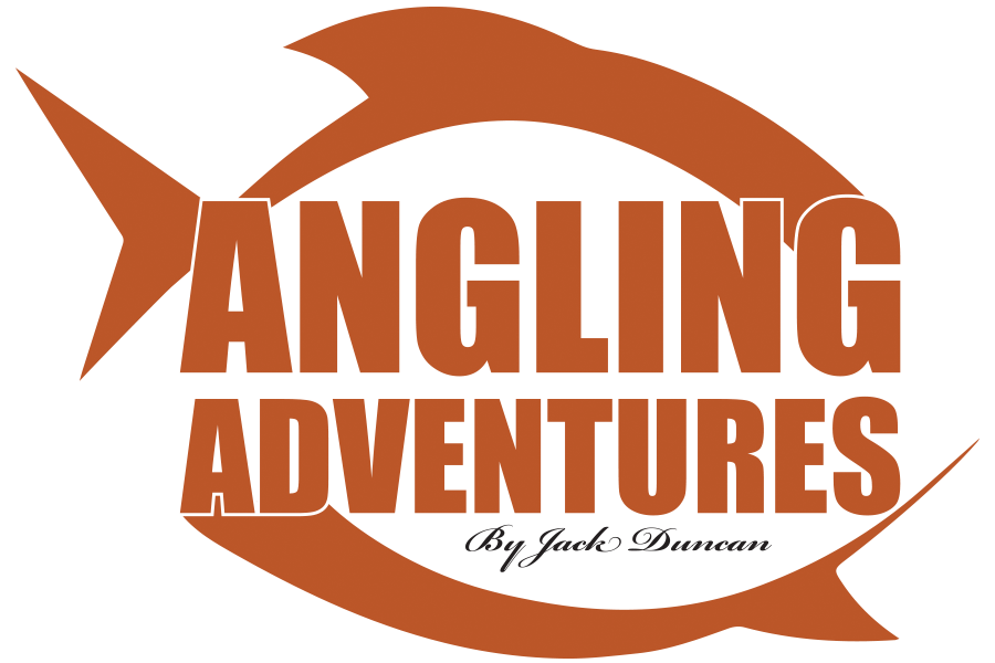 angling adventures fishing guide logo